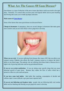 What Are The Causes Of Gum Disease