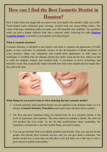 How can I find the Best Cosmetic Dentist in Houston