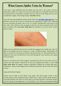 What Causes Spider Veins In Women