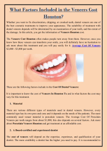 What Factors Included in the Veneers Cost Houston