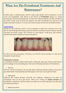 What Are The Periodontal Treatments And Maintenance