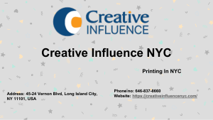 Commercial Printing New York City by Creative Influence NYC