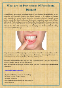 What are the Preventions Of Periodontal Disease