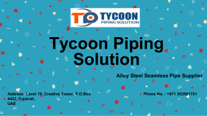 Api 5l Seamless Pipe by Tycoon Piping Solution