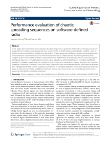 Performance evaluation of chaotic spreading sequen