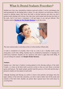 What Is Dental Sealants Procedure