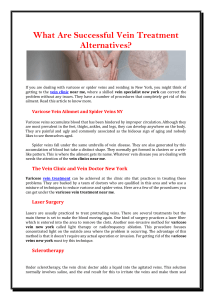 What are successful vein treatment alternatives(1)