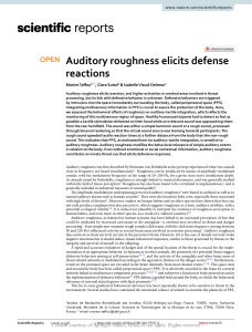 Auditory roughness elicits defense reactions
