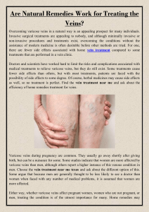 Are Natural Remedies Work for Treating the Veins