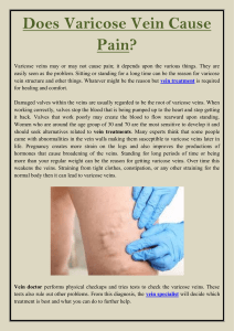 Does Varicose Vein Cause Pain