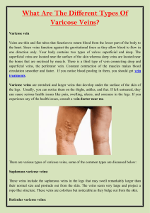 What Are The Different Types Of Varicose Veins