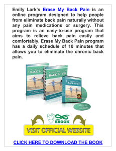 Erase My Back Pain PDF, eBook by Emily Lark