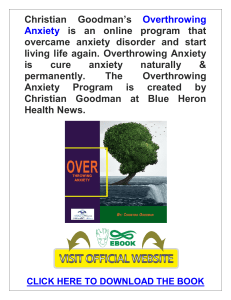 Overthrowing Anxiety PDF, eBook by Blue Heron Health News