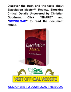 Ejaculation Master PDF, eBook by Blue Heron Health News