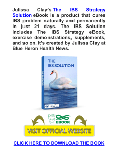 The IBS Strategy Solution PDF, eBook by Blue Heron Health News