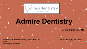 Permanent Tooth Filling by Admire Dentistry