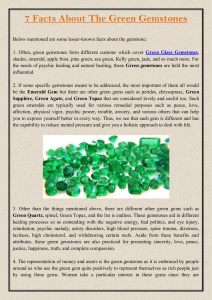 7 Facts About The Green Gemstones
