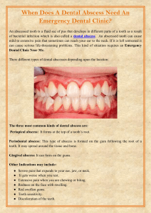 When Does A Dental Abscess Need An Emergency Dental Clinic