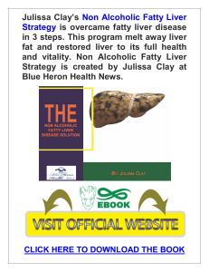 Non Alcoholic Fatty Liver Strategy PDF, eBook by Julissa Clay