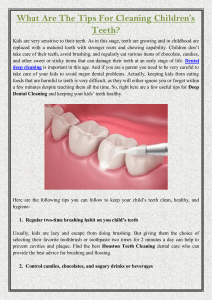 What Are The Tips For Cleaning Children's Teeth