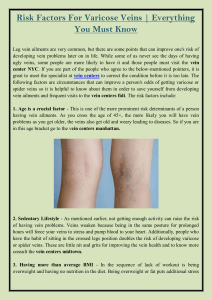 Risk Factors for Varicose Veins  Everything You Must Know