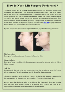 How Is Neck Lift Surgery Performed