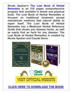 The Lost Book of Herbal Remedies PDF, eBook by Claude Davis and Nicole Apelian
