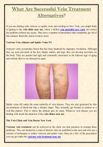 What Are Successful Vein Treatment Alternatives