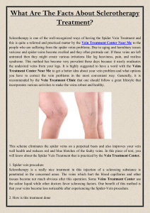 What Are The Facts About Sclerotherapy Treatment