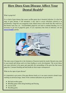How Does Gum Disease Affect Your Dental Health
