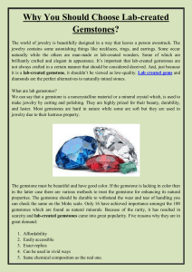Why You Should Choose Lab-created Gemstones