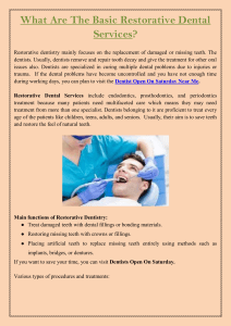 What Are The Basic Restorative Dental Services