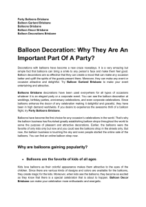 Balloon Decoration Why They Are An Important Part Of A Party