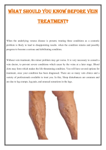 What should you know before Vein Treatment