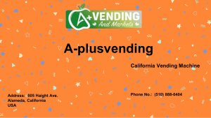 Oakland Vending Machine Solutions by A-plusvending