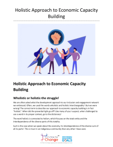 Holistic Approach to Economic Capacity Building.docx