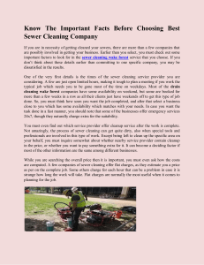 Know The Important Facts Before Choosing Best Sewer Cleaning Compan
