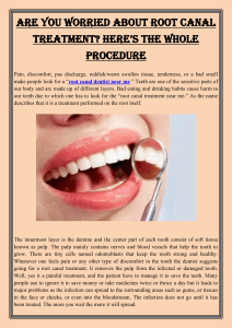 Are You Worried About Root Canal Treatment Here's the Whole Procedure