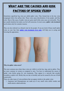 What are the causes and risk factors of spider veins