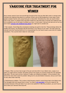 Varicose vein treatment for women