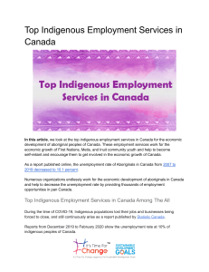 Top Indigenous Employment Services in Canada-ITFC