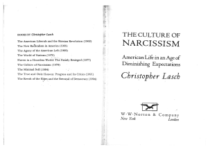The Culture of Narcissism American Life in an Age of Diminishing Expectations by Christopher Lasch (z-lib.org)