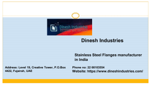 stainless steel pipe fittings manufacturers in india by Dinesh Industries