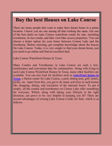 Buy the best Houses on Lake Conroe
