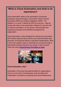 What is Cloud Automation